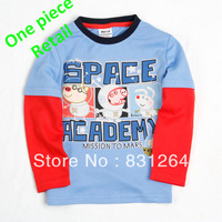 Free Shipping New 2013 George Pig Childrens Clothes Fashion Baby Boys 100%Cotton Long Sleeve T shirt Cartoon Peppa Pig Clothing
