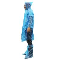 Donkey Raincoat Poncho & Foot Strap Rain Clothes Disposable Raincoat Outdoor Raincoat Thickening 3 Pcs