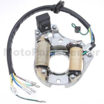 K079-014,2-Coil Full-Wave Magneto Stator For 50cc,70cc,90cc,125cc Electrical Start ATV, Dirt Bike , Go Kart