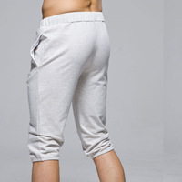 Looch knee-length pants male fashionable casual sports capris lounge pants men's push-up health pants skinny pants