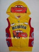 free shipping 2013 newest  Wholesale Fashion kids  cars2 tshirt kids Cartoon boy's vest autumn