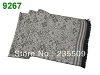 Women's Bohemian Retro Totem Vintage Flowers cotton wraps 2013 NEW plain womens 100% viscose Shawl Scarf Tassel Long Silk Carves