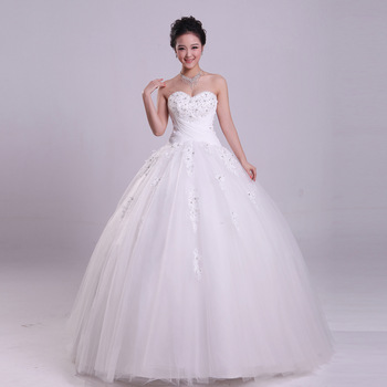 2013 new arrival wedding dress elegant princess strap tube top