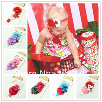 New Style rose flower headband hairband Baby Girls flowers headbands sequin bows Christmas gift wholesale