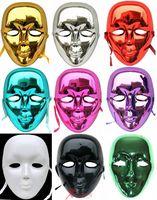 100 pieces Can  MIX color Masquerade masks  hip-hop white mask full bboy plating mask Jabbawockeez