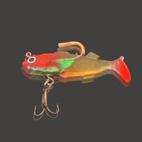 Hot commodity, 5pcs pack soft lead fish lure soft bait designed to kill insects perch perch