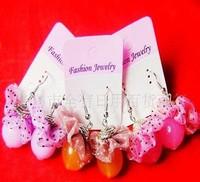 free shipping! Jelly flower drop earring with diamond acrylic beads flower earrings