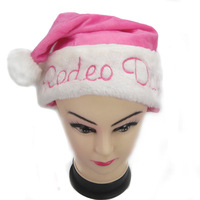 Beautiful Pink Adult Christmas Hat Santa Claus Snow Hat Caps Christmas Supplies Christmas Gift Cap