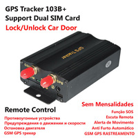 alibaba express hot selling central locking rastreador TK103b+ support dual fuel sensor & 2 sim card gps tracker free shipping