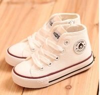 Children's high-top canvas shoes boys and girls shoes, children shoes cotton flat heel casual shoes