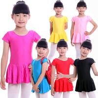 Child short-sleeve One-piece Dress Ballet Skirt Gym Suit Ballet Dance Skirt Kids Dance Wear Child dance clothes leotard SM005