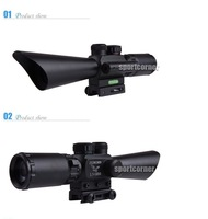 brand New M8 3.5-10x40 rd Gn Mil-Dot Scope W/ Red Laser for paintball hunting