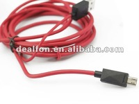 2M MHL Micro To HDTV HDMI Adapter Cable for Samsung Galaxy S3 I9300 Galaxy Note 2 N7100