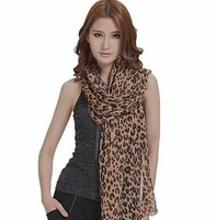 Free shipping new style Beauty must-have fashion leopard print scarf  wholesale price