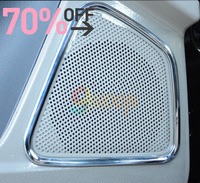 Fast shipping 2012 2013 Ford Focus Interior Mouldings ABS Chrome trim Speaker Ring sound Decoration Loop for Focus 3 accessories