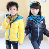 2013 Winter Girls Clothing Male Child Down Coat Short Design Child Down Coat Outerwear Child Outerwear Free Shipping