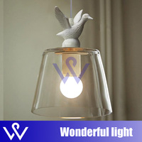 Free Shipping Modern Hot Selling 1 Light Little Duck Glass Pendant Lights Bird Suspension Lamp for dinner room children room
