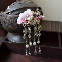 Handmade classical hairpin tassel hair accessory hanfu costume cos accessories microfiber