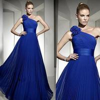 new 2014 spring Fashion long design formal dress evening dresses party dresses the bride royal blue dress