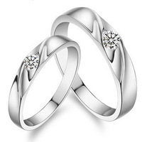 925 pure silver lovers ring Women silver jewelry fashion lovers ring