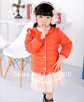 2013 Autumn Children's duck down jacket girls short down jacket child coat