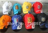 New arrival! Free shipping football fan visors/baseball caps with big european clubs&famous national teams' logo, fan souvenirs