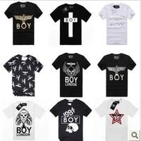 Free shipping fashion T-Shirts brand Lovers male boy london boy short-sleeve T-shirt class service  boy london