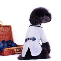 dog tuxedo woolen puppy doggie pets formal suit Tailcoat korea style white dark gray