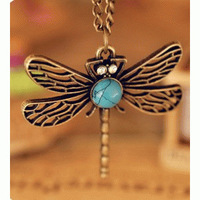 B3014 Specials Europe jewelry retro hollow dragonfly fashion necklaces