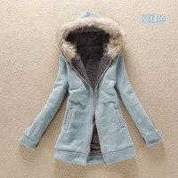 2013 autumn winter fashion RABBIT FUR with a hood Coat for Women,berber fleece Wool wadded jacket sweatshirt outerwear,1pc