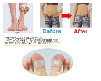 10pcs/lot  magnetic foot massager vacuum  Silicon rollers relax Toe Ring for Weight Loss relaxation care Free or fast shipping