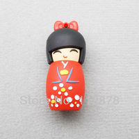 LU292 Wholesale Hot Cartoon Japanese Girl doll model 2-32GB USB 2.0 Flash Memory Stick Drive Thumb/Car/Pen