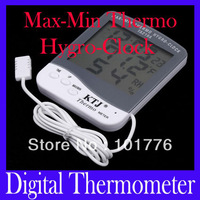 EMS Free shipping Digital LCD Outdoor Hygrometer Thermometer, Max-min Outdoor Thermo & Hygro with Clock TA218A ,20pcs/lot