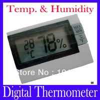 Free shipping Wireless indoor mini Digital Temperature Thermometer Humidity ,MOQ=1