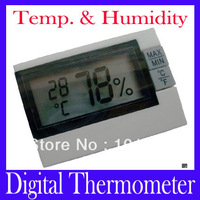 Free shipping Wireless indoor mini Digital Temperature Thermometer Humidity ,MOQ=1