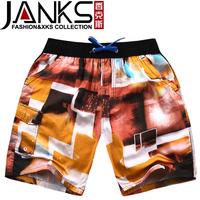 Janks male beach pants summer shorts knee-length pants capris male casual trousers 6a1237430621