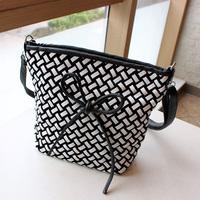 2013 trend autumn knitted bow small bag women's handbag bag messenger bag all-match women's bucket bag handbag