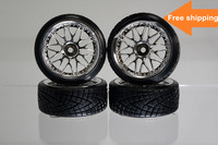 Free shipping RC Car 1/10 scale on road Wheels /Mounted tires,HPI,X-Ray,Tamiya,Team Associated