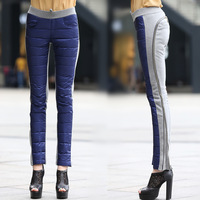 2013 autumn and winter high waist down pants thickening mid waist trousers chromophous all-match plus size pants