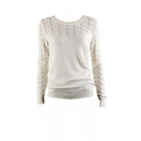 Fashion beautiful fairy cutout crochet pullover sweater sweater female