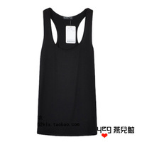 Yeg brief fashion pure black tank small vest comfortable modal basic