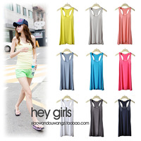 Fashion modal basic shirt candy color spaghetti strap vest female 6