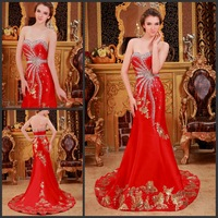 Ultimate luxury crystal formal dress formal dress toast the bride married formal dress evening dress xj91199