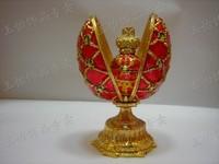 Tinwares Russia diamond metal jewelry box egg crafts egg ring box decoration