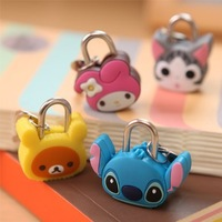 2014 padlock Cute cartoon stereo mini safe padlock 2.6*3.5cm  Free shipping