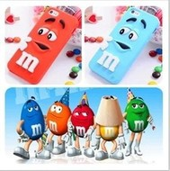 10pcs/lot New M&M Fragrance Chocolate M Rainbow Beans soft silicon back cover case for Apple iPhone 4 4S , free shipping