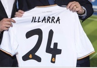 New 13/14 Real Madrid Home White #24 illarra Jerseys 2013-2014 Cheap Soccer Unforms 13-14 Footabll kit Mix Order