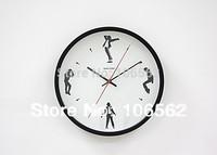 Home decor portrait metal round clock Memory of Michael Jackson,white/black/red/silver colors special gift  relogio de parede