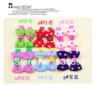 Free Shipping Fashion New Cute Kids/Girl/Princess Colorful Dot Ribbon Bowknot hair clips Children hairpins Baby hair accessories