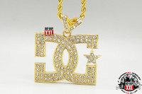 Free shipping B058 Top quality hiphop Bling full rhinestone shiny  DJ MC letter star pendant alloy necklace 5pcs/lot
